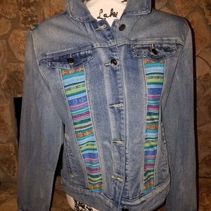 JEAN JACKET (NWOT) WITH SOME COLOR!
